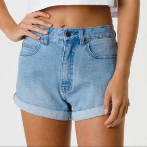 Afends high waist denim shorts